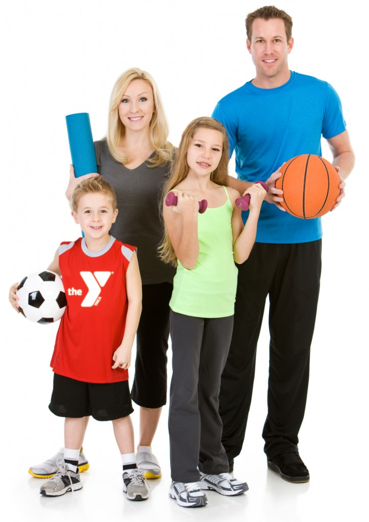 Family: Healthy Family Ready to Participate in Fitness Activitie